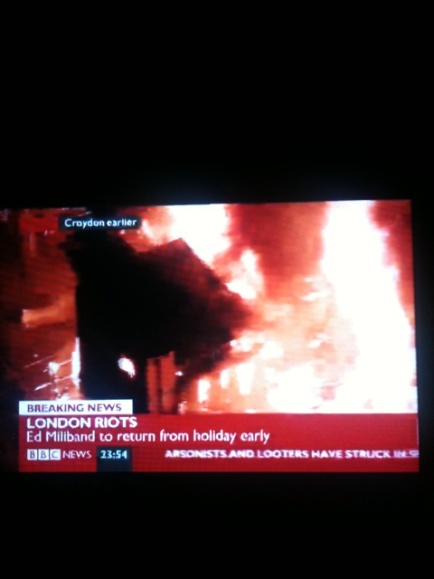 London riots in the news