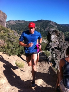 "Sean and Danille barefoot running on ""Troy's Mountain"""