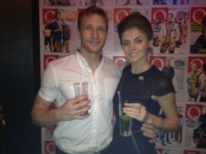 Sean Lerwill and Kate Braithwaite at the Q Awards after party