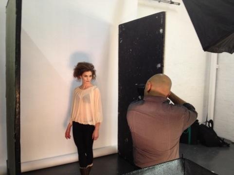 Kate Braithwaite modelling at Holborn Studios