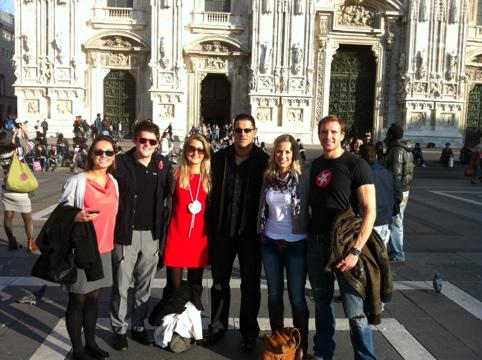 Sean Lerwill in Milan for Maximuscle