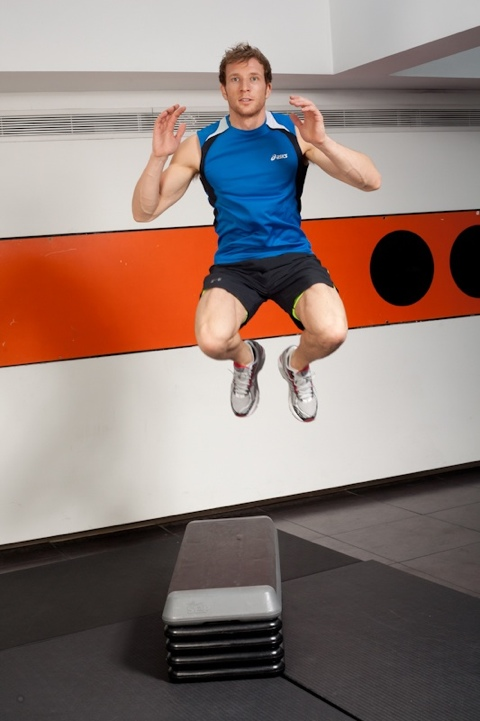 Sean Lerwill's plyometric jumps