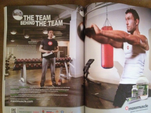 Sean Lerwill in Maximuscle's The Team Behind The Team advert