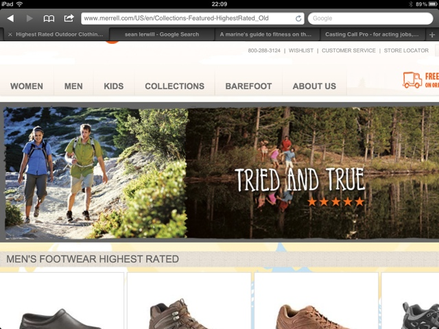 The Lake Tahoe shoot on the Merrell website