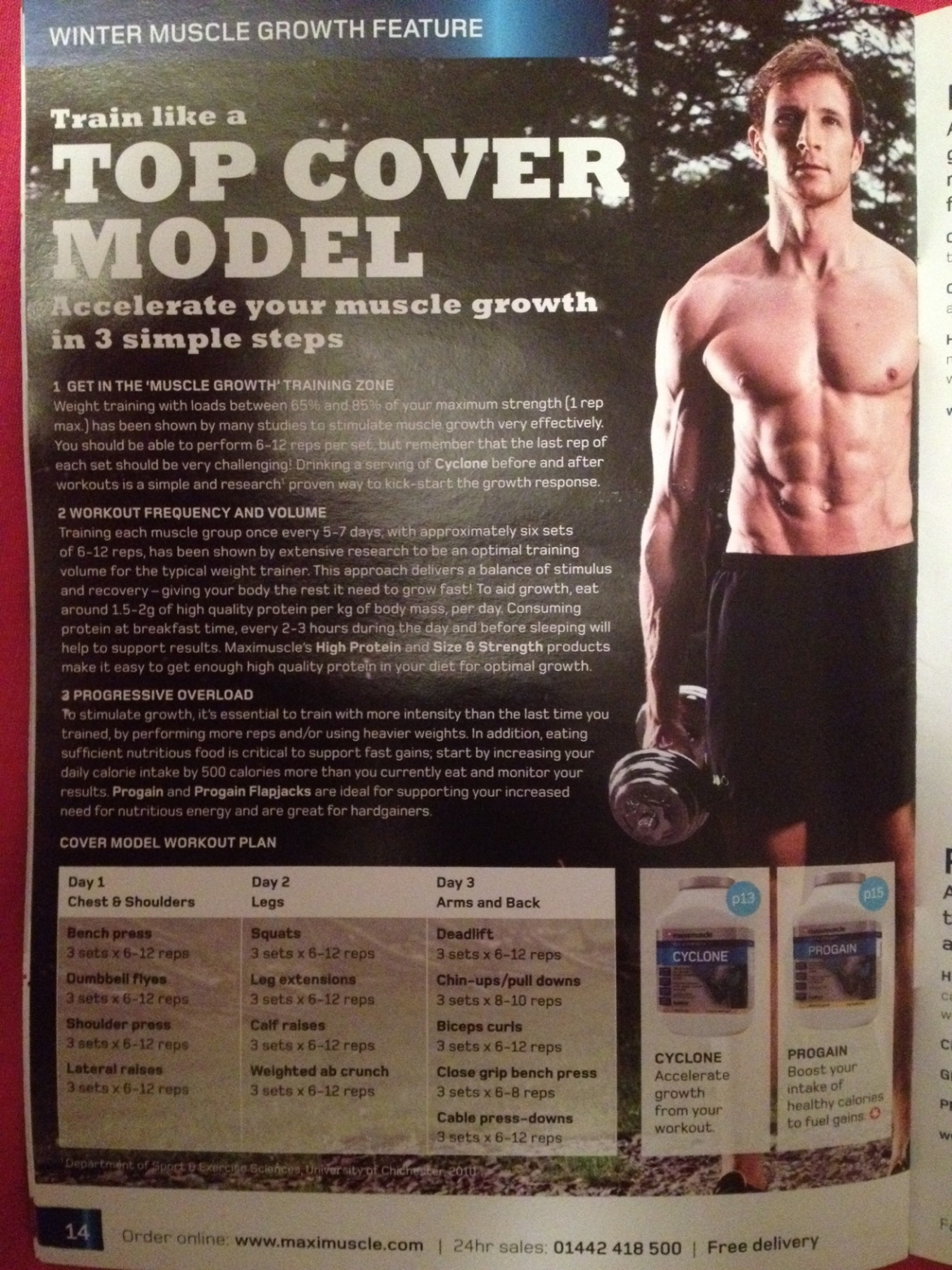 Sean Lerwill's Top Cover Model training programme