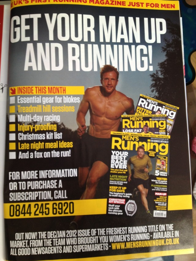 Sean Lerwill's Men's Running advert as featured in Women's Running