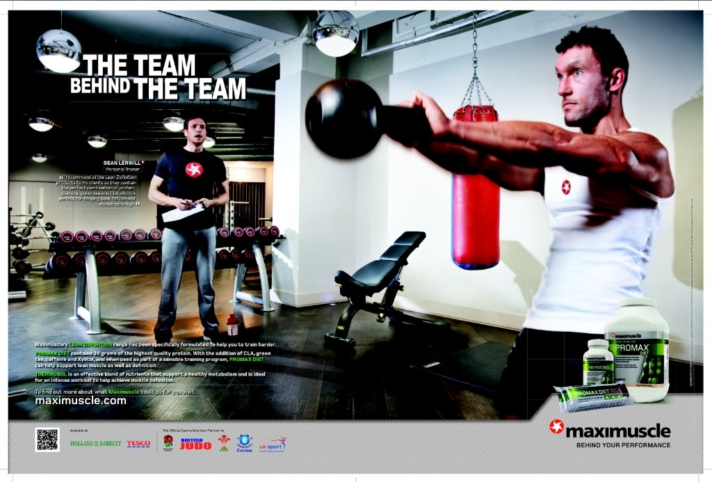 Sean Lerwill featured in Maximuscle's The Team Behind the Team advert