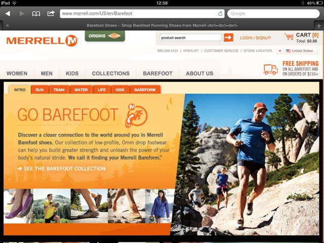 Sean Lerwill on the Merrell website