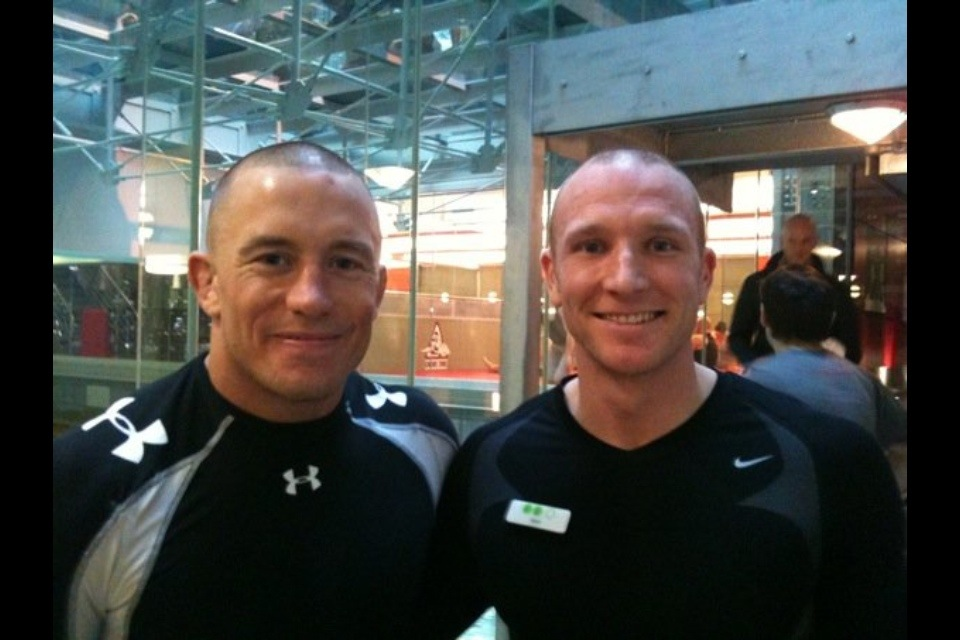 Sean Lerwill with George St. Pierre