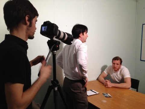 Sean Lerwill filming with FourPointFilms