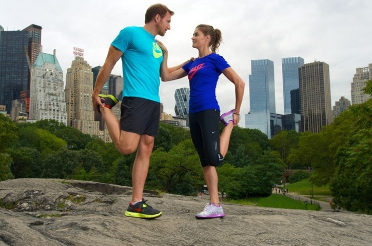Sean and Kate running in New York