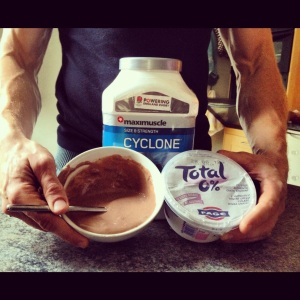 Total 0% yoghurt with Maximuscle Cyclone