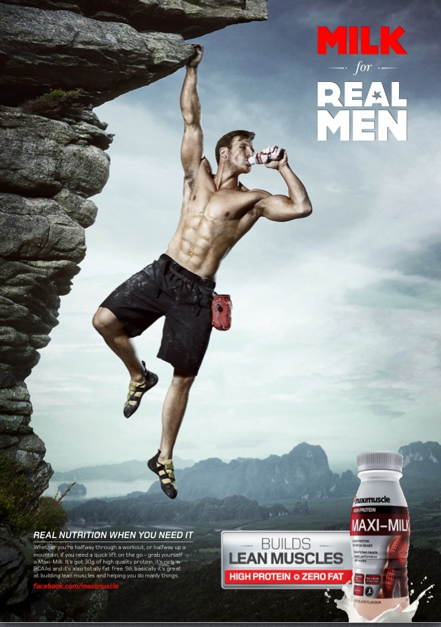 Sean Lerwill's Maximuscle Maxi-milk advert: Milk for Real Men