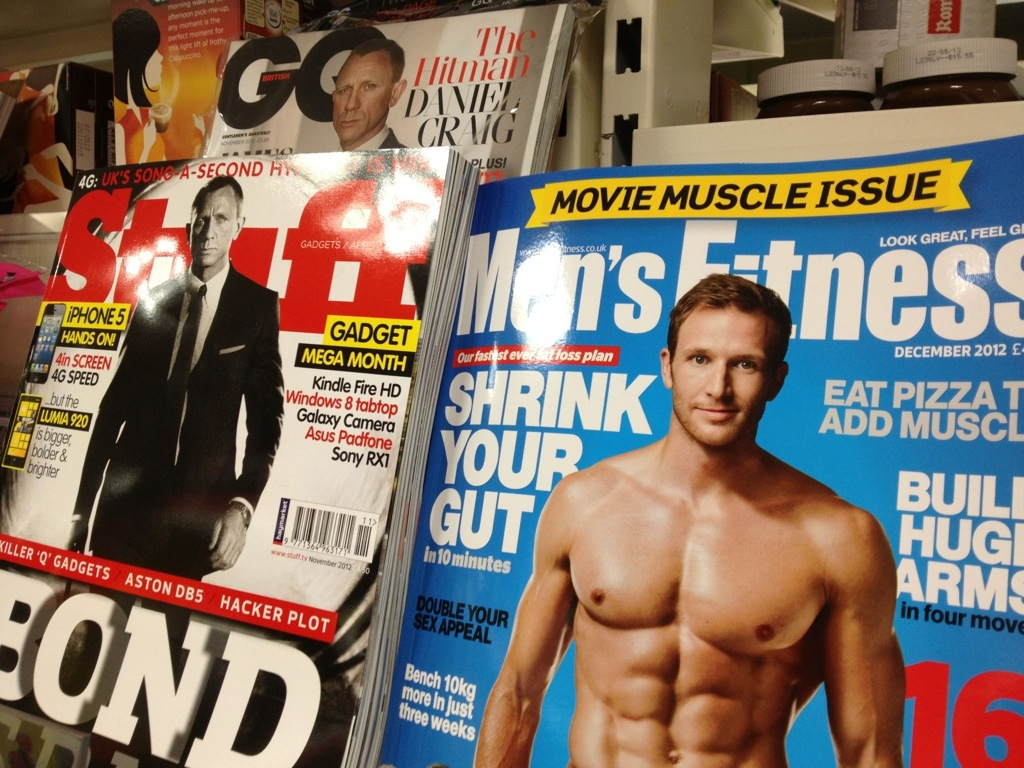 Sean's Men's Fitness issue on the shelves