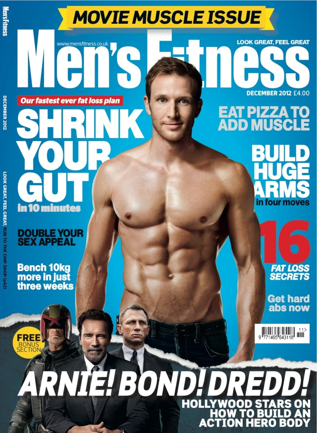Sean Lerwill's Men's Fitness cover (December 2012)