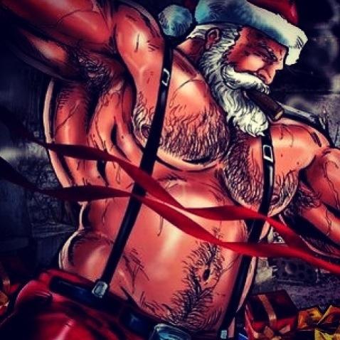 Ripped Santa