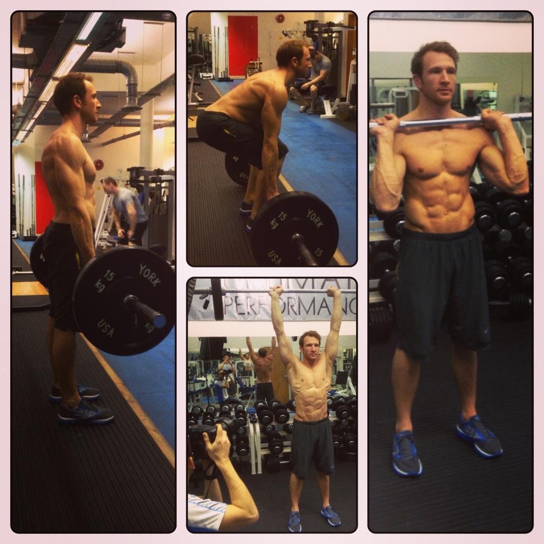 Sean Lerwill Men's Fitness shoot (Jan 2013)