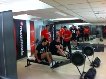 The Protein Project - training on the rowing machines